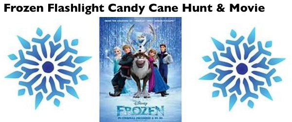 Frozen movie Flashlight Candy Cane Hunt and movie