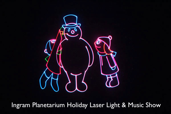 Ingram Planetarium Holiday Laser Light and Music Show for your Holiday Gathering
