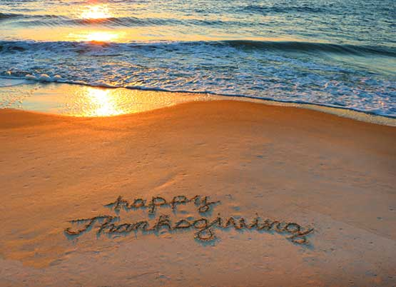 Happy Thanksgiving on Ocean Isle Beach, North Carolina