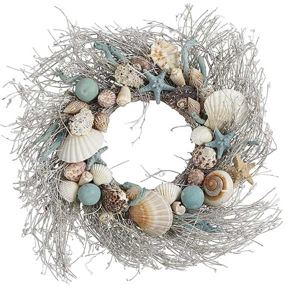 Christmas Wreath made of Shells