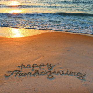 Thanksgiving on the Beach